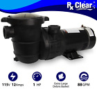 Rx Clear Above Ground 1 HP Single Speed Pump For Swimming Pool w Cord