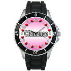 Name Clemence Mens Ladies Fashion Black Jelly Silicone Strap Wrist Watch S1196E
