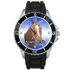 Anglo Arab Pony Horse Mens Ladies Casual Black Silicone Strap Wrist Watch S878E