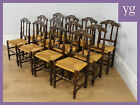 Antique Set 8 Eight French Ladder Spindle Back Country Kitchen Dining Chairs