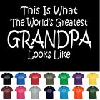 Worlds Greatest GRANDPA Fathers Day Papa Birthday Christmas Gift Tee T Shirt