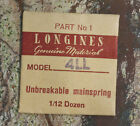 Vintage Longines 4LL watch mainspring NOS Swiss Longines watch part