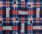 New England Patriots NFL V3 Licensed Plaid Fleece Fabric 60 Inches Wide By Yard