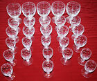 VINTAGE SET OF 28 THOMAS WEBB ENGLAND CLEAR CUT CRYSTAL GLASSWARE SIGNED