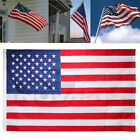 American Flag 3x5 FT USA US US Sewn Stripes Embroidered Stars Brass Grommets