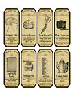 Scrapbooking apothecary labels set of 8 crafts