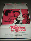 WEDDING IN BLOOD ORIGINAL FOLDED POSTER CLAUDE CHABROL 1973