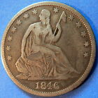 1846 O Half Dollar Seated Liberty Very Fine to Extra Fine #4131