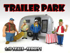 TRAILER PARK FIGURE SET OF 4PC 118 SCALE DIECAST MODEL CARS AMERICAN DIORAMA