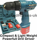 9.6v Drill Driver Set Compact Drill Driver With 2x 9.6v 1.5Ah Batteries 1H Charg