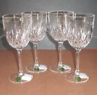 Waterford LISMORE ENCORE Red Wine Goblet SET OF FOUR (4) Crystal Glasses 9oz New