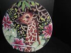 FITZ & FLOYD***EXOTIC JUNGLE GIRAFFE***BONE CHINA***SALAD PLATE***