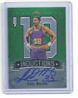 2013 LEAF METAL KARL MALONE INDUCTION GREEN REFRACTOR AUTO SIGNATURE CARD 9 10