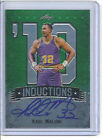 2013 LEAF METAL KARL MALONE INDUCTION GREEN REFRACTOR AUTO SIGNATURE CARD 1 10