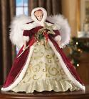 Heritage Winter Angel Porcelain Doll with Feathered Wings Collectible 14