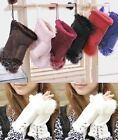 1Pair Women's Real Rabbit Fur Hand Wrist Warmer Fingerless Winter Gloves