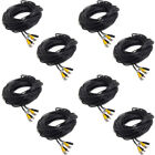 8 x 100ft CCTV BNC Video Power Cable DVR Surveillance Wire Security Camera Cord