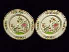 PAIR OF SPODE CHINA HAND PAINTED & ENAMEL POLYCHROME PEACOCK PLATES – CIRCA 1820