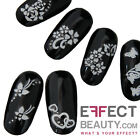 3D White Nail Art Stickers Transfers with Gems  10 Designs  FREE FAST UK POST