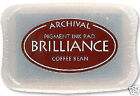 BRILLIANCE Archival Pigment Ink Pad COFFEE BEAN