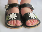 Toddler Sandals Squeaky Sandals Black with White Flower Up to Size 7