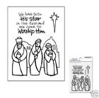 STAMPENDOUS Clear Stamps WISEMEN GLASS Worship Him Star