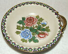 ANTIQUE NIPPON MORIMURA HAND PAINTED PINK & BLUE FLOWERS GOLD GILT HANDLED BOWL
