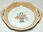 VINTAGE NORITAKE MORIMURA ORANGE LUSTERWARE HAND PAINTED COLORFUL FLOWER BASKET