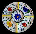 HAND PAINTED POTTERY DIVIDED SERVING PLATTER 15