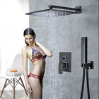 Luxury Wall Mounted LED Color Changing Bathroom Shower Faucet Set Tub Mixer Tap