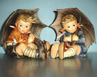 Goebel Hummel UMBRELLA GIRL 152/IIA & UMBRELLA BOY 152/IIB FIGURINES TMK5 7.5