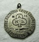Antique 1896 Whist Medallion - Sixth American Whist Congress Brooklyn New York s