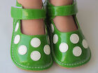 Toddler Shoes Squeaky Shoes Green w White Dots Mary Jane Up to Size 7