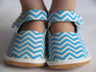 Toddler Shoes Squeaky Shoes Blue Chevron Mary Jane Up to Toddler Size 7