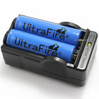 2 PCS BLUE 18650 3800mAh 3.7v li-ion Rechargeable Battery and US 2 slots charger