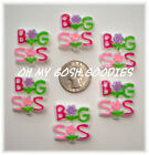 6PC BIG SISTER 2 BRIGHT FLAT BACK FLATBACK RESINS 4 HAIRBOW BOW CENTER
