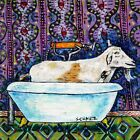 Goat taking a Bath art tile coaster gift bathroom gift gifts