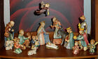 VINTAGE 1951 GOEBEL HUMMEL LARGE 16 PIECE NATIVITY SET #214 + BONUS ITEMS GREAT!