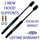 2 New Front Hood Lift Supports Stealth 3000GT Shock Strut Arm Rod Prop Damper