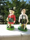 Vintage Porcelain Salt and Pepper shaker  Figurines of Girl and Boy