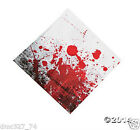 16 HALLOWEEN Paper Party Zombie BLOODY Blood Splattered Print LUNCHEON NAPKINS