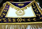 HAND EMBROIDER MASONIC, GRAND PAST MASTER APRON - PURPLE GPM-04