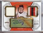 2012 TOPPS MUSEUM COLLECTION BUSTER POSEY AUTO DUAL JERSEY & 3 COLOR PATCH 22 25