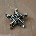Starfish Necklace 925 Sterling Silver Starfish Charm Jewelry NEW Ocean Beach