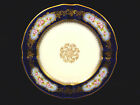 FRENCH M. REDON LIMOGES COBALT, GILT & HAND PAINTED CABINET PLATE – CIRCA 1894