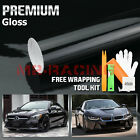 60x84 GLOSS BLACK GLOSSY Vinyl Wrap Sticker Decal Sheet w Bubble Air Release