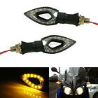 Triangle Amber 12-SMD LED Front/Rear Turn Signal Blinker Lights For Motorcycle