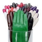 Cashmere Women Lady's Genuine Leather Wrist winter warm driving Gloves14 Colors