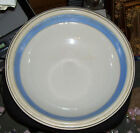 John Moses Ironstone Mixing Bowl Blue Banded 15in C.1860's Glasgow Trenton Rare