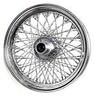 BKRider Ultima 16x3 Twisted 80 Spoke Chrome Front Wheel for Harley 86-99 Softail